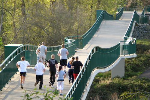 Pedestrian Bridge at Reinhart Park