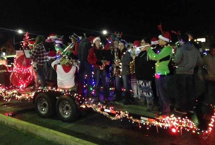 Band in Christmas Parade