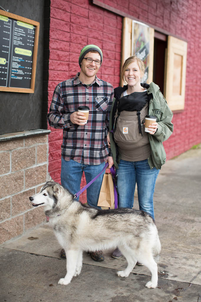 Couple at Rogue Roasters