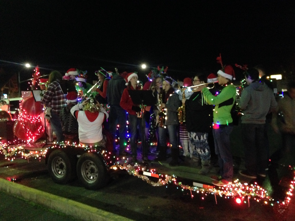 Hidden Valley High School Band Christmas Parade