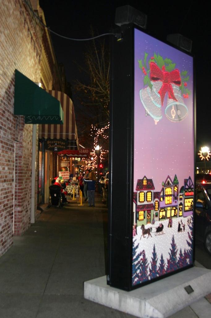 Magical Murals Christmas Downtown