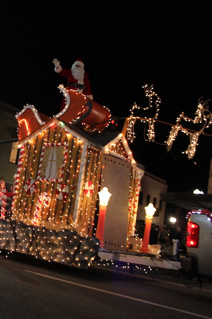 Santa in Christmas Parade