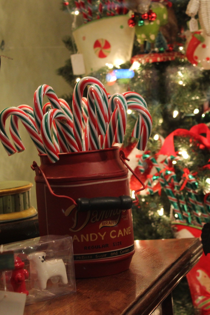 Candy Canes and Christmas Decorations