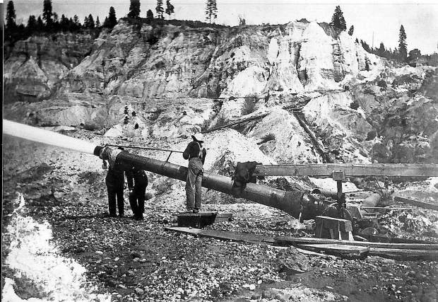 Hydraulic Mining, Photo Courtesty of Searles Library