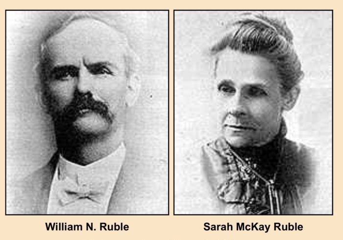 William N. and Sarah Ruble, Photo Courtesy of Larry L. McLane