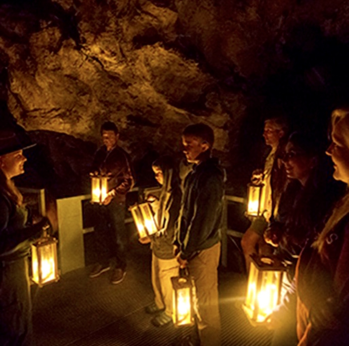 Oregon Caves Candelight Tour, Photo Credit nps.gov